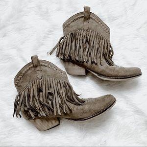 Western Fringe Booties